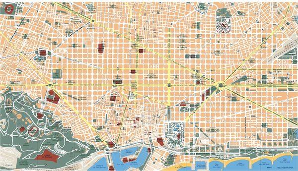 Barcelona mapa vectorial