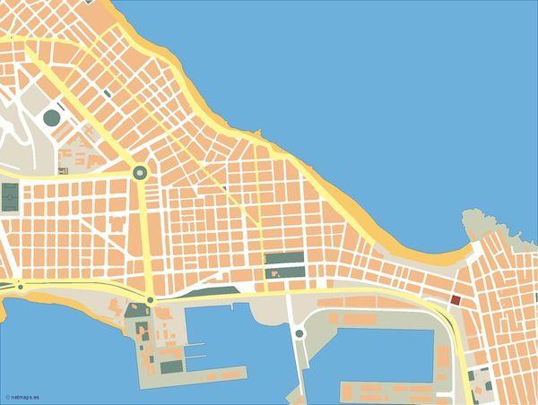 Las-Palmas-de-Gran-Canaria_mapa_mudo