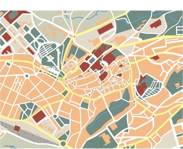 Santiago-de-Compostela_mapa_mudo