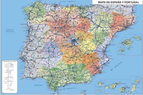 Mapa España Agendas &0 X 40 cm vector Illustrator