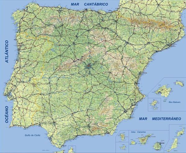 España Físico 1:800.000