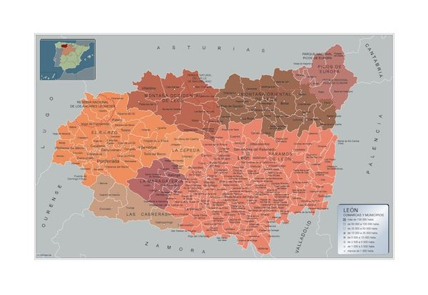 mapa municipios Leon