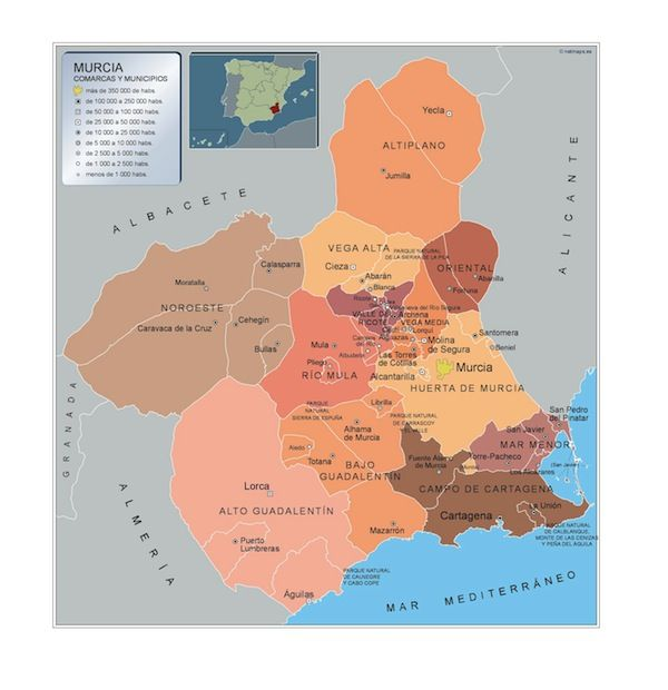 mapa municipios Murcia