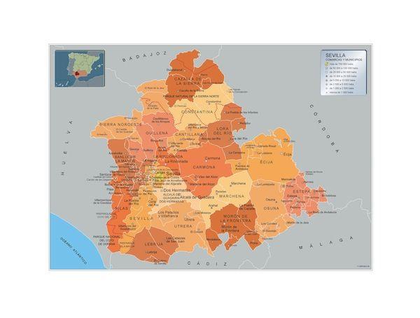 mapa municipios Sevilla