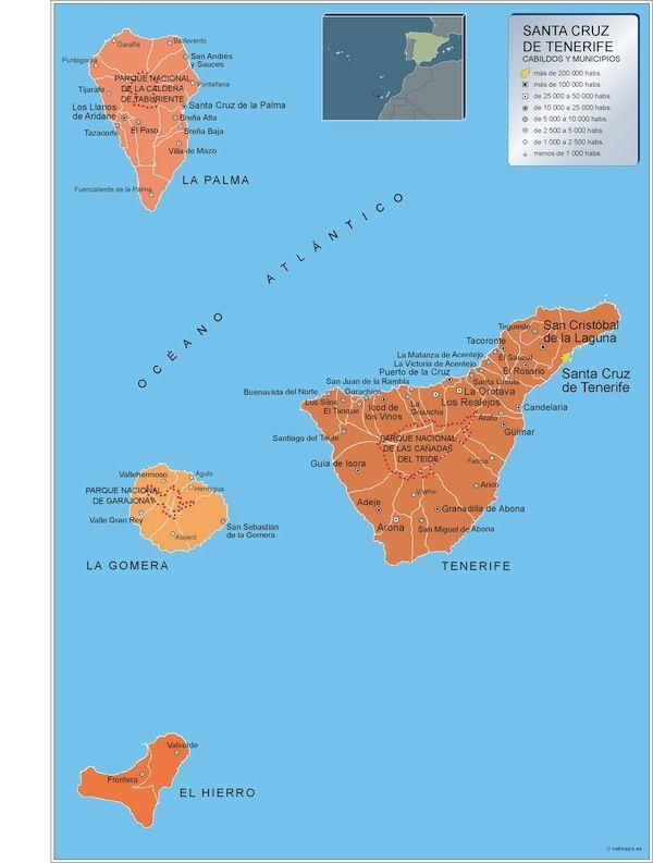 mapa municipios Santa Cruz de Tenerife