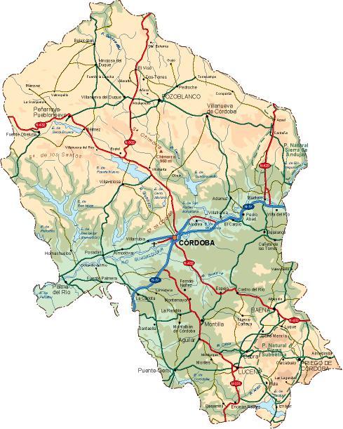 mapa provincia Cordoba