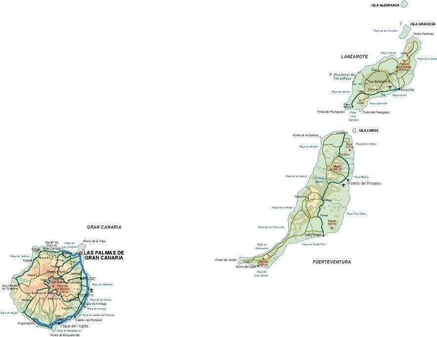 mapa provincia Las Palmas
