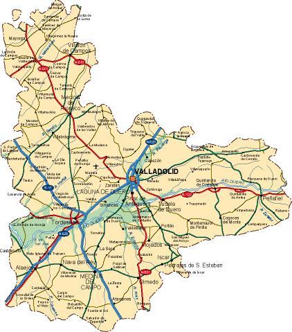mapa provincia Valladolid